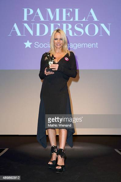 Pamela Anderson attends the Icons Idols No 3 event to celebrate the 10th anniversary of InTouch magazine on September 24 2015 in Duesseldorf Germany