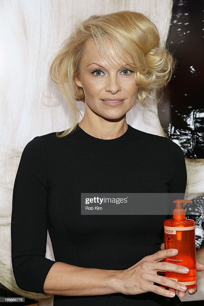 <a gi-track='captionPersonalityLinkClicked' href=/galleries/search?phrase=Pamela+Anderson&family=editorial&specificpeople=171759 ng-click='$event.stopPropagation()'>Pamela Anderson</a> attends the International Beauty Show at Jacob Javits Center on April 15, 2013 in New York City.