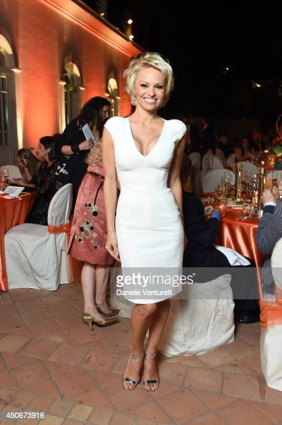 Pamela Anderson attends the World Food Programme Charity Gala Hosted by MASERATI during the 60th Taormina Film Fest on June 15 2014 in Taormina Italy