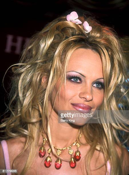 Pamela Anderson dressed as Venus the Goddess of Love appearing at Caesars Palace to launch her makeup line sign autographs for fans for a benefit for...