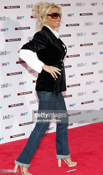 Pamela Anderson during 2006 JUNO Awards Red Carpet at Halifax Metro Centre in Halifax Nova Scotia Canada
