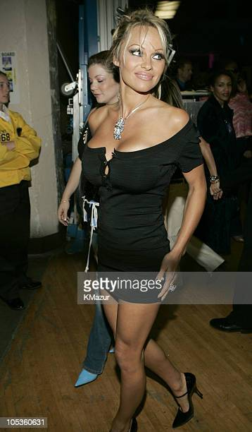 Pamela Anderson during 32nd Annual American Music Awards Backstage and Audience at Shrine Auditorium in Los Angeles California United States