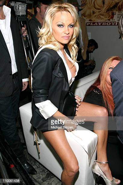 Pamela Anderson during Hugh Hefner and International Images Launch the Playboy Legacy Collection at Republic at Republic in Los Angeles California...