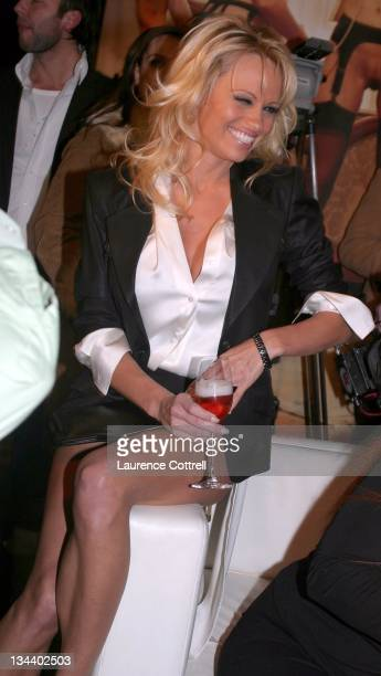 Pamela Anderson during Hugh Hefner and International Images Launch the Playboy Legacy Collection at Republic in Los Angeles California United States