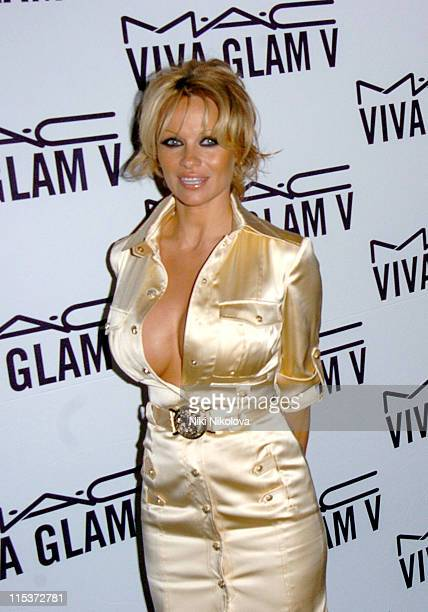 Pamela Anderson during MAC VIVA GLAM V Launch Party at Home House in London Great Britain