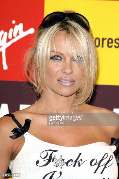 Pamela Anderson during Pamela Anderson Signs Copies of her New Book 'Star' at Virgin Megastore London October 21 2004 at Virgin Megastore in...