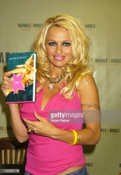 Pamela Anderson during Pamela Anderson Signs her New Book 'Star A Novel' at Barnes Noble Rockefeller Center in New York City New York United States
