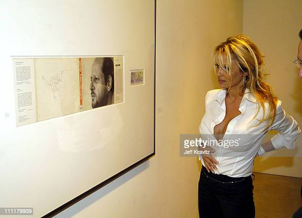 Pamela Anderson during Richard Prince Check Paintings at Gagosian Gallery in Beverly Hills California United States