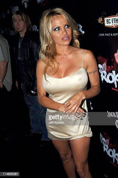 Pamela Anderson during Rokbar Hollywood Launch Party Red Carpet at Rokbar in Los Angeles California United States