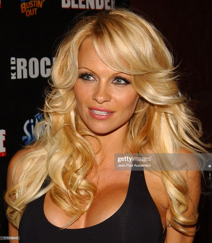 Pamela Anderson during STUFF Magazine and Blender Host Kid Rock's After - Party For The 2003 American Music Awards- Red Carpet/Inside at Forbidden City in Hollywood, California, United States.