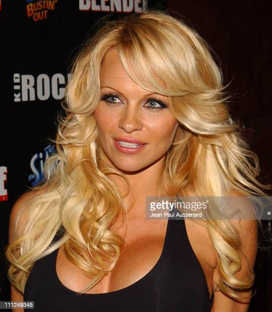 Pamela Anderson during STUFF Magazine and Blender Host Kid Rock's After Party For The 2003 American Music Awards Red Carpet/Inside at Forbidden City...