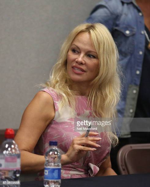 Pamela Anderson during the London Film and Comic Con day 1 at Olympia London on July 28 2017 in London England