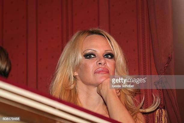 Pamela Anderson during the Opera Ball Vienna 2016 at Vienna State Opera on February 4 2016 in Vienna Austria