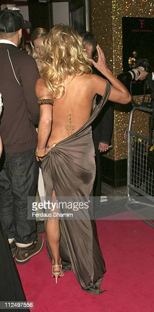 Pamela Anderson during Vegas Supernova Selfridges Launch Party at Selfridges in London Great Britain