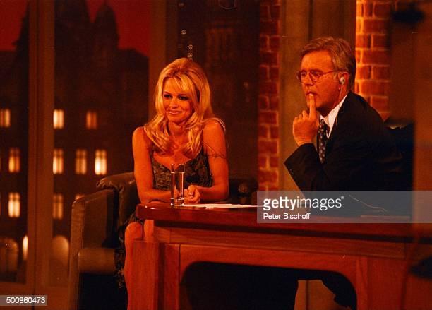 Pamela Anderson Harald Schmidt 'Harald SchmidtShow' SAT1 Show Promi