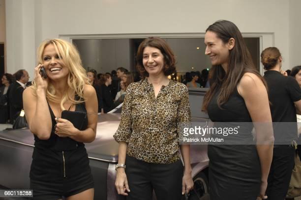 Pamela Anderson Karen Marta and Bettina Korek attend SHE Images of women by Wallace Berman and Richard Prince Opening at Michael Kohn Gallery on...
