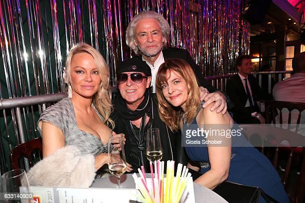 Pamela Anderson Klaus Meine singer of 'Scorpions' Hermann Buehlbecker CEO of Lambertz and Nastassja Kinski during the Lambertz Monday Night 2017 at...