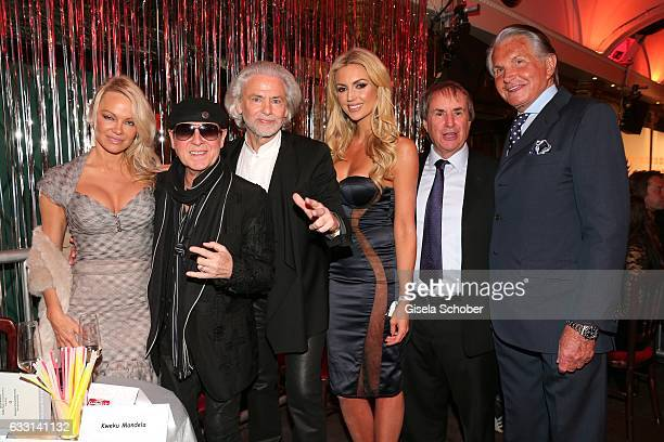 Pamela Anderson Klaus Meine singer of 'Scorpions' Hermann Buehlbecker CEO of Lambertz Rosanna Davison daughter of Chris de Burg and Chris de Burgh...