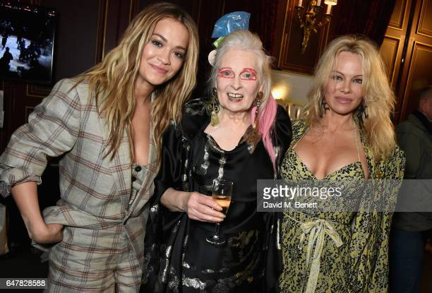 Pamela Anderson Vivienne Westwood and Rita Ora attend Andreas Kronthaler for Vivienne Westwood show as part of the Paris Fashion Week Womenswear...