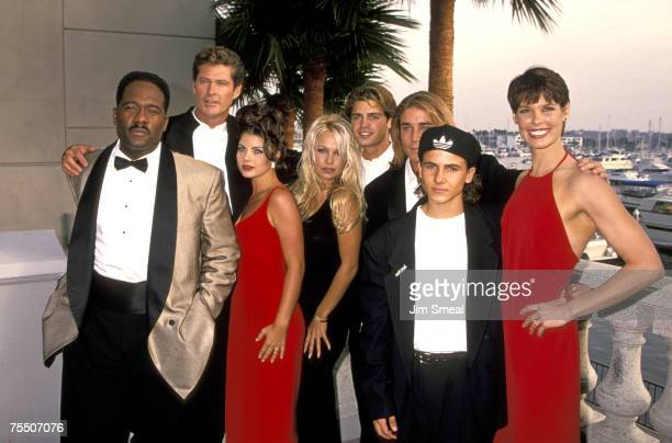 Pamela Anderson Yasmine Bleeth David Hasselhoff David Charvet Alexandra Paul Jeremy Jackson Jaason Simmons and Gregory Alan Williams during the 100th...