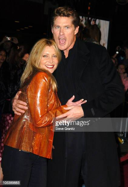 Pamela Bach and David Hasselhoff during 'The Wedding Date' Los Angeles Premiere Arrivals at Universal Studios Cinemas in Universal City California...