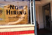 Santa Monica Ca October 26 2014 Pamela Bread hiring sign in front of store