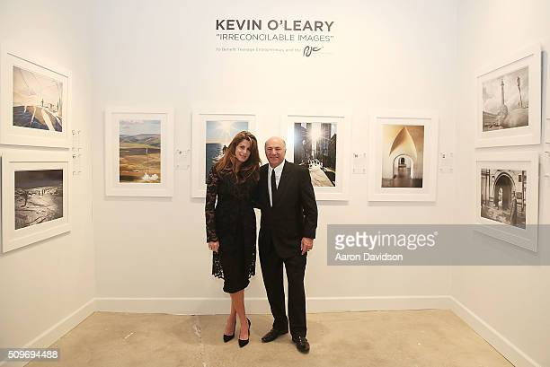 Pamela Cohen and Kevin O'Leary attend Art Wynwood VIP preview show on February 11 2016 in Miami Florida