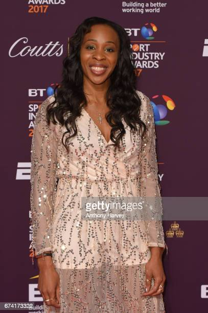 Pamela Cookey poses on the red carpet during the BT Sport Industry Awards 2017 at Battersea Evolution on April 27 2017 in London England The BT Sport...