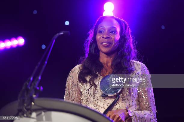 Pamela Cookey presents the Brand of the Year award in association with Pinsent Masons during the BT Sport Industry Awards 2017 at Battersea Evolution...