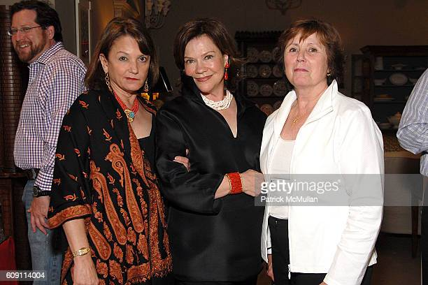 Pamela Cuchiclark Suzanne Rheinstein and Amanda Mae Kass attend Cocktails at Hollyhock Honoring Mish NY and the Breast Center at UCLA at West...