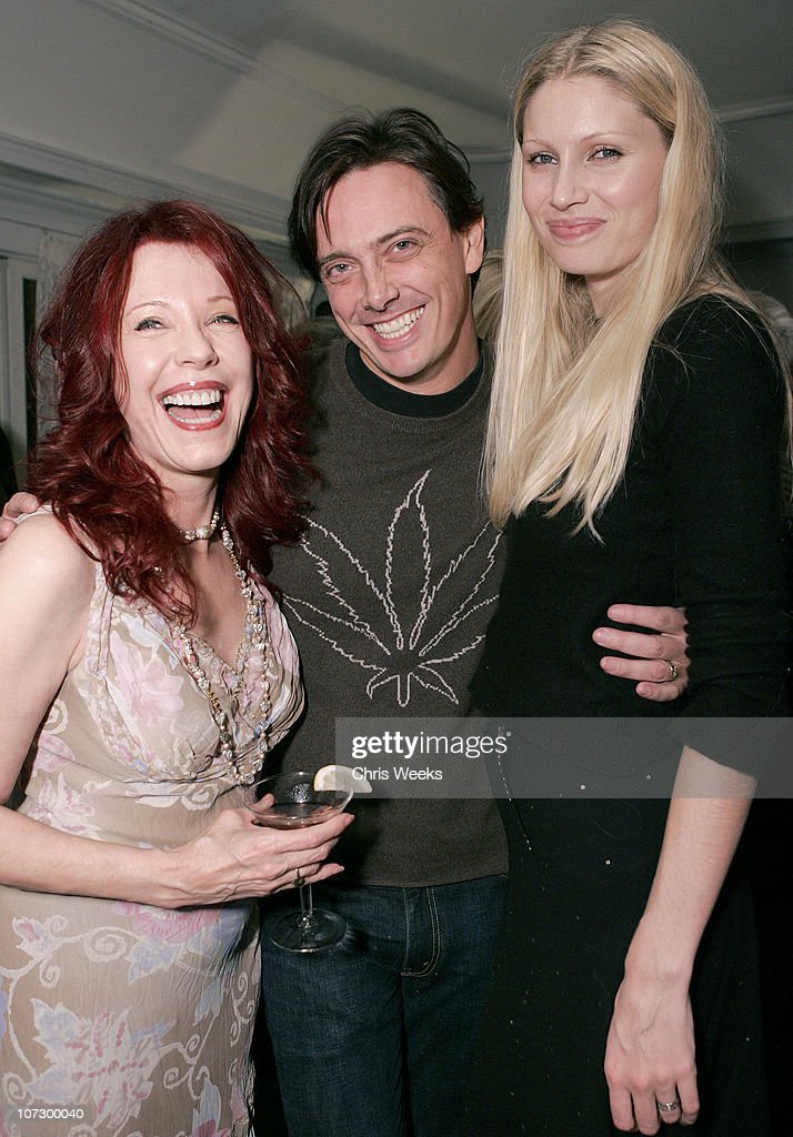 Pamela Des Barres, Donovan Leitch and Kirsty Hume during Leslie Gardner's Smashing Grandpa Launches New Designs Inspired by 'I'm with the Band: Confessions of a Groupie' by Pamela Des Barres at Chateau Marmont at Chateau Marmont in West Hollywood, California, United States.
