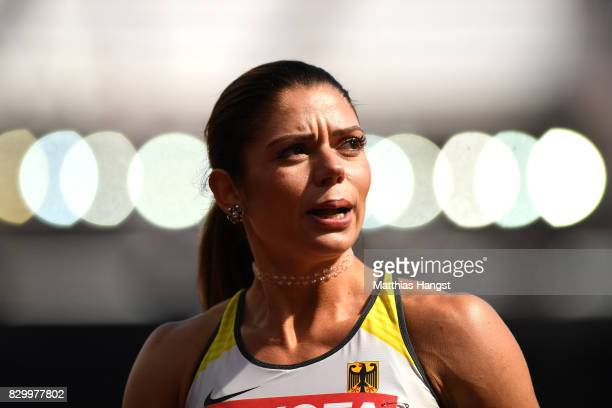 Pamela Dutkiewicz of Germany competes in the Women's 100 metres hurdles heats during day eight of the 16th IAAF World Athletics Championships London...