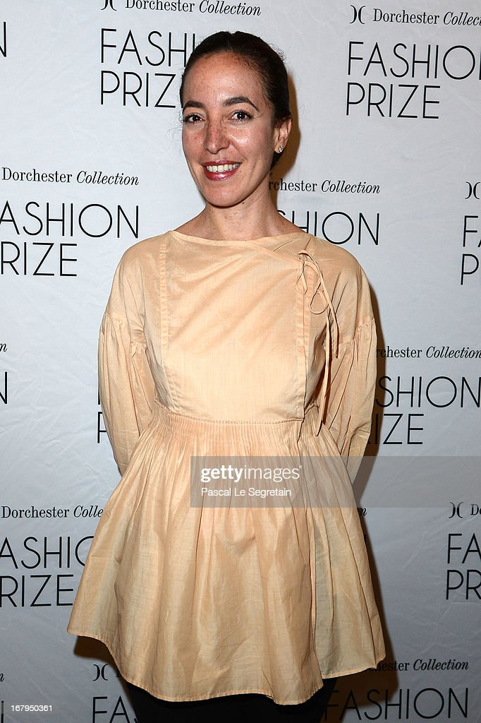 Pamela Golbin attends the 2013 Launch of the Dorchester Collection Fashion Prize 2013 at Hotel Plaza Athenee on May 3, 2013 in Paris, France.