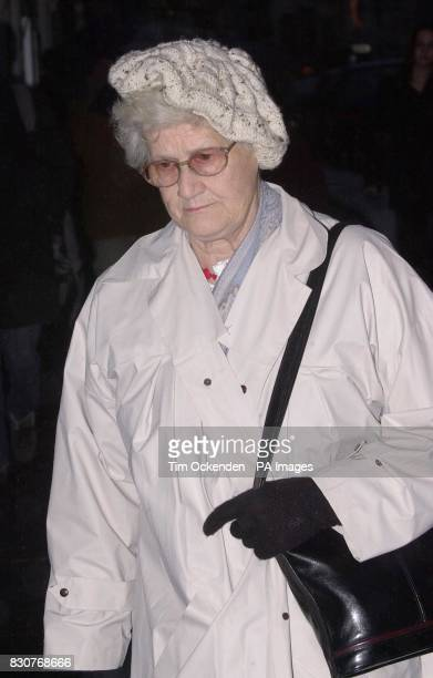 Pamela Green mother of Roy Whiting leaves Lewes Crown Court where her son is accused of the murder of schoolgirl Sarah Payne