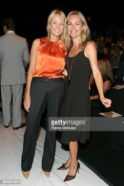 Pamela Gross Finkelstein and Valesca GuerrandHermes attend OSCAR DE LA RENTA Spring 2007 Fashion Show at The Tent at Bryant Park on September 11 2006...
