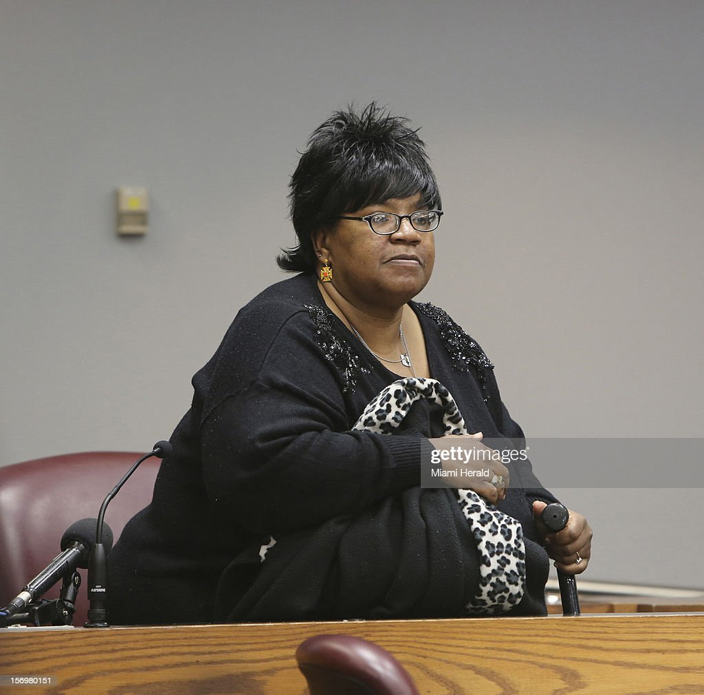 Pamela Kendrick testifies at the trial of Geralyn Graham, a foster caretaker charged with abuse and murder of young Rilya Wilson, Monday, November 26, 2012, in Miami, Florida.