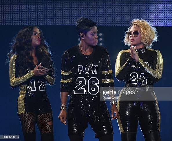 Pamela Long Keisha Spivey Epps and Kima Raynor Dyson of Total onstage ...