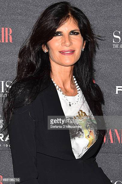 Pamela Prati attends 'Cinema Italia' Exhibition Opening during the 10th Rome Film Fest at on October 17 2015 in Rome Italy