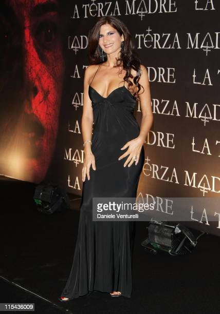 Pamela Prati attends the 'La Terza Madre' premiere during Day 6 of the 2nd Rome Film Festival on October 23 2007 in Rome Italy