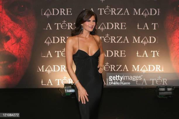 Pamela Prati on the Black Carpet for film 'La Terza Madre' during Rome Cinema Festa on October 23 2007 in Rome Italy