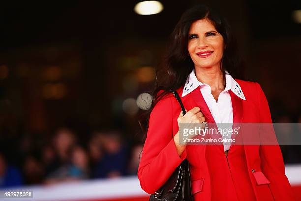 Pamela Prati walks the red carpet for 'Truth' during the 10th Rome Film Fest at Auditorium Parco Della Musica on October 16 2015 in Rome Italy
