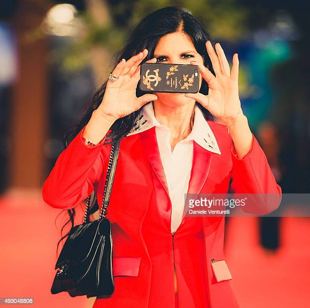 Pamela Prati walks the red carpet for 'Truth' during the The 10th Rome Film Fest on October 16 2015 in Rome Italy
