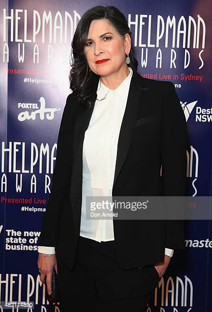 Pamela Rabe arrives at the 2015 Helpmann Awards at the Capitol Theatre on July 27 2015 in Sydney Australia