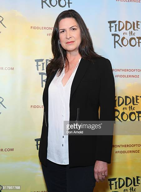 Pamela Rabe arrives for opening night of Fiddler On The Roof at Capitol Theatre on March 29 2016 in Sydney Australia