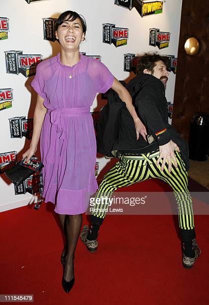 Pamela Racine and Eugene Hutz of Gogol Bordello arrive at the Shockwaves NME Awards 2007