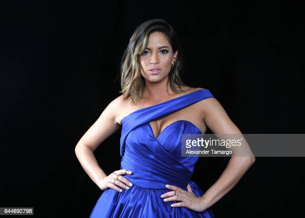 Pamela Silva attends Univision's 29th Edition of Premio Lo Nuestro A La Musica Latina at the American Airlines Arena on February 23 2017 in Miami...