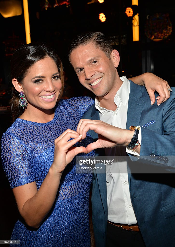 Pamela Silva Conde and Rodner Figueroa attend I Love Venezuelan Foundation Event Cantina La No. 20 at The Icon Brickell on October 14, 2014 in Miami, Florida.
