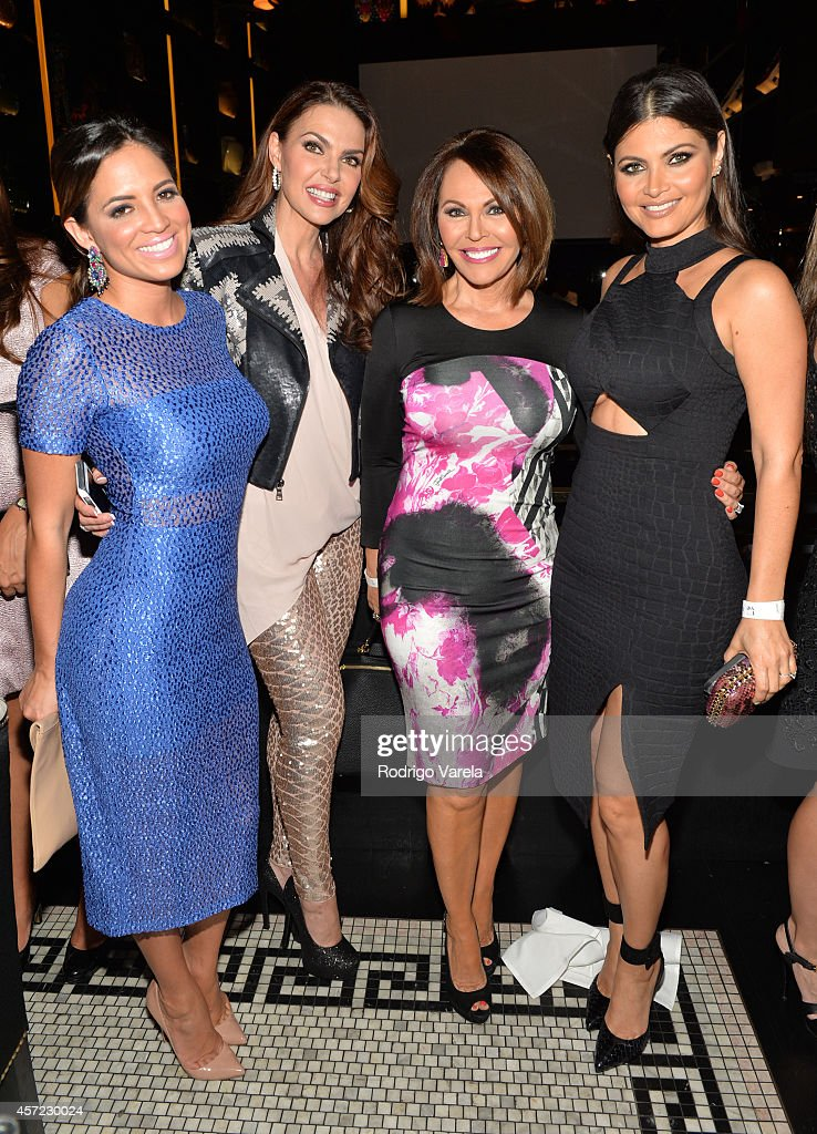 Pamela Silva Conde, Barbara Palacios, Maria Elena Salinas and Chiquinquira Delgado attend I Love Venezuelan Foundation Event Cantina La No. 20 at The Icon Brickell on October 14, 2014 in Miami, Florida.