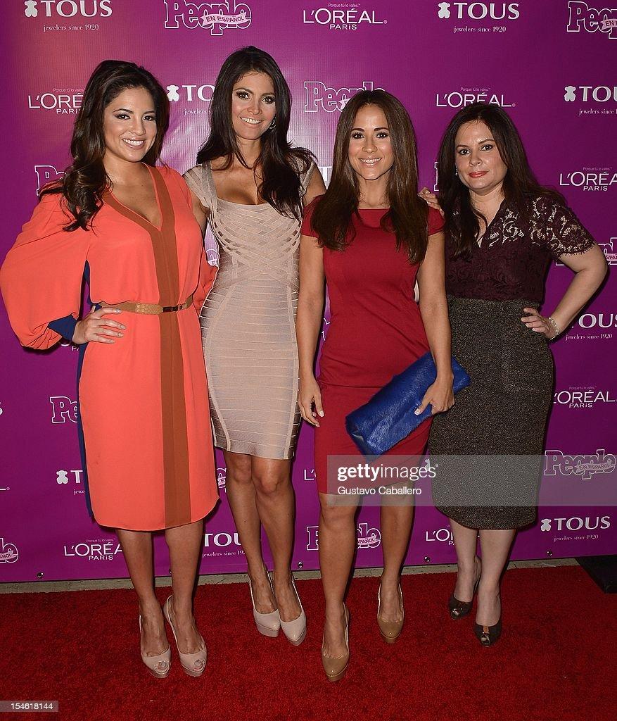 Pamela Silva Conde Chiquinquira Delgado Jackie Guerrido and Jessica Rodriguez attend People En Espanol Celebrates The 25 Most Powerful Women at The...