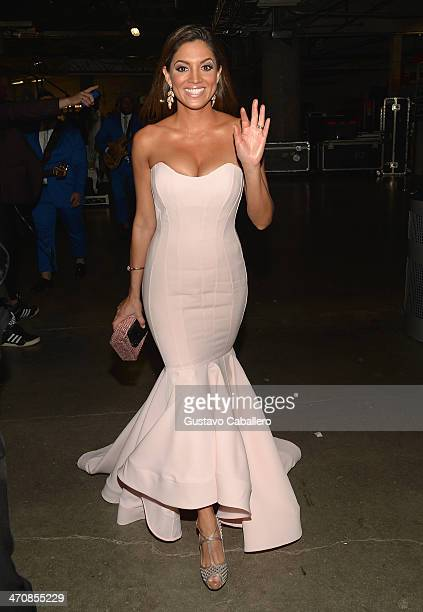 Pamela Silva Conde poses backstage at Premio Lo Nuestro a la Musica Latina 2014 at American Airlines Arena on February 20 2014 in Miami Florida